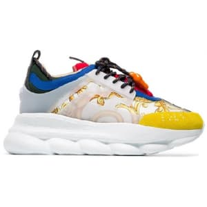 Versace Chain Reaction White/Yellow (36-40) код-140