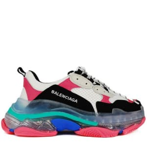 Balenciaga Triple S Clear Sole Black & Pink (36-40) Код:317