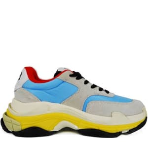 Balenciaga Triple S grey/yellow/blue (36-45) Код:332